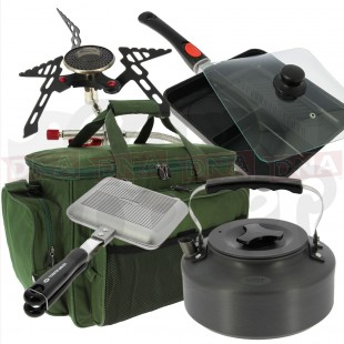 Carp Fishing and Camping Cooking and Cutlery Set 2