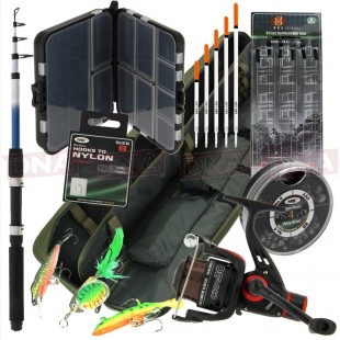 Amazing Travel Set with Telescopic Rod, Reel and Carry Bag + More!