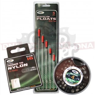 Wide Unloaded Floats + Hooks to Nylon and 4 Way Shot