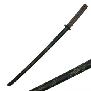 """39.5"""" Hardwood Bokken sword with Brown Wrap"""