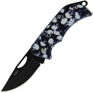 Skull EDC Folding Knife Open