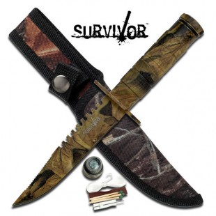Camo Survival Knife