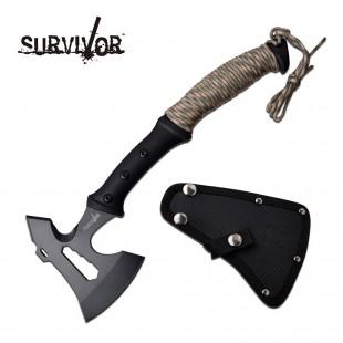Survivor 3CR13 Hand Axe - Cord Wrapped Handle
