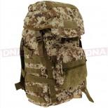 Golan™ 55L 800D Tactical Rucksack / Stuff-sack - Desert Digital Camo Front