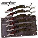 6x Perfect Point Fantasy-Tribal Throwing Daggers - Red Dragon