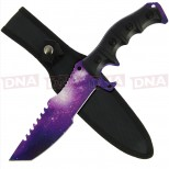 Go! Tracker Type 30.5cm Fixed Blade Knife with Cosmic Purple Skin Main