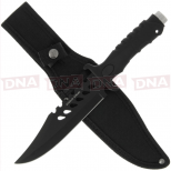 Anglo Arms Tactical Light Weight Bowie Set Black Single Sheath