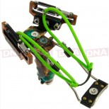 Deluxe Compound Toxic Green Slingshot Top View