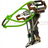 Deluxe Compound Toxic Green Slingshot Side View