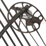 15-70lb Black 'Chikara' Compound Bow Set Cams