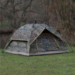 Pop Up Easy Assembly Camping / Survival Tent Camo Door Closed