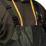 Waterproof Green PVC Chest Waders Close Up