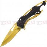 Golan GOL-888BG Black Gold Folding Knife