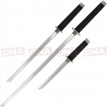 Anglo Arms 3 Piece Straight Sword Set Non Live Blades