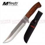 "MTech 7"" 3Cr13 Fixed Blade - Brown"