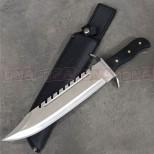 """Master USA 12"""" Bowie Knife - Dark Brown"""