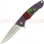 Rose Style Lock Knife