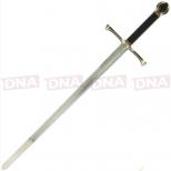 Single Straight Cross Guard Sword Open
