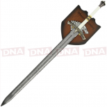 Single Straight Ice Sword with Plaque Full View