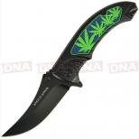 Leaf Style Lock Knife Open