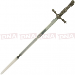 Single Straight Assassins Sword of Ojeda with Sheath Open