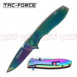 Tac-Force Rainbow Titanium Ballistic Knife