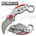 Tac-Force-Spring-Assisted-Karambit-White/Red