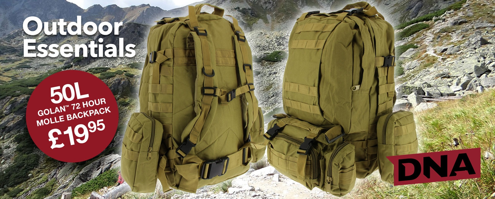 golan 50 litre molle backpack